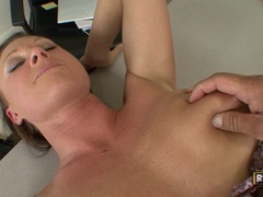 Sultry milf Devon Lee spreads her slits apart for a nice hard bang on her twat