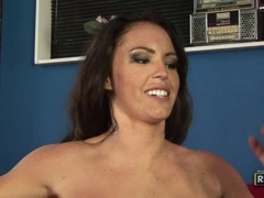 Busty whore Jenna Presley gets double cummed after a nice hot groupsex