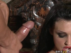 Lusty babe Aletta Ocean gets creamed on her mouth after a nice hard fuck