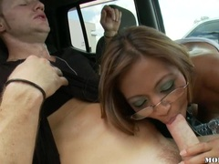 Asian cock lover Kina Kai cracks her mouth with a massively huge cock
