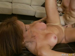 Big boobed Monique Fuentes getting plowed by a hard juicy beaver hard and deep