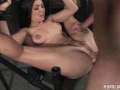 Lovely Jackie Daniels receives a hot amount of cock sauce in her filthy mouth