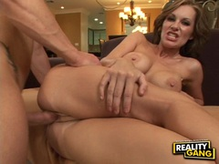 Horny hottie Brandi Edwards gets cummed on her mouth after a wild hot fuck