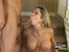 Cock lover Morgan Ray loves getting jizzed on her mouth after a hot wild round