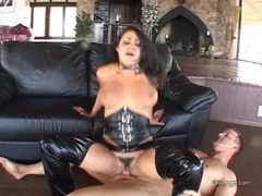 Lovely pornstar Charley Chase slamming her sweet slippery snatch on a thick pole