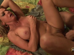 Cock loving milf Shayla Laveaux sips more on a cock until it drains dry from cum