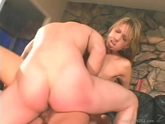 Cock loving Janet Alfano enjoys two cocks penetrationg on her at the same time