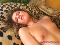 Horny nymph Jacqueline Stone tears her holes apart with her warm fingers