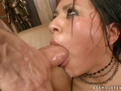 Cock loving honey Yoha gets her mouth all messed up with slimey cum