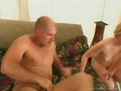 Lusty bitch Amber Rain shares a hot ooze of cock load with her girlfriend
