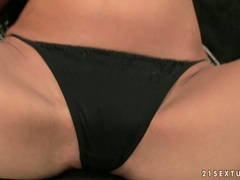 Holly hot whore Pure Angel gets too hot to handle alone in her sexy lingerie