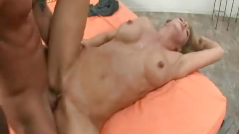 Amazing Roxanne Hall takes a hard cock pounding and facial from huge cock