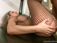Scorching hot Angie Angel gets her tight sweet ass pumped by a huge meaty dick