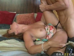 Wild whore Tory Lane gets her hot tight ass plugged with ravishing meatpole