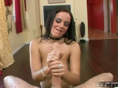 Sweetheart Natasha Nice loves getting cummed in the mouth after a hot job