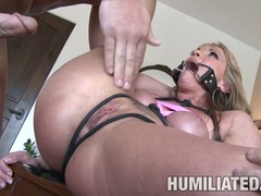Submissive whore Shayla Laveaux spreads her twat wide enough to get banged