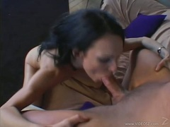 kinny beautiful Victoria Sin gets her mouth abused by a destructive hard cock