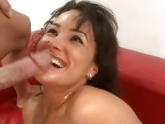 Lisa Ann gets her hot twat fucked and her face sprayed with cock sauce