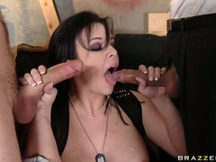 sugary hot Emma Heart takes one cock at a time in her slippery sweet mouth