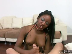 Lusty Amile Waters wants nothing more than rocking a hard cock til it explodes