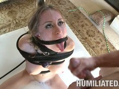 Fetish loving Honey West gets her mouth sprayed with warm jizz and loves it