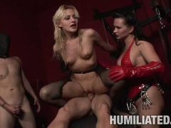 Filthy white whore Mallory Rae slamming her twat hard on a cock until she cums