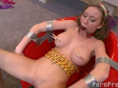 Juicy hot Madison Scott getting toyed on her sugary sweet snatch and loves it