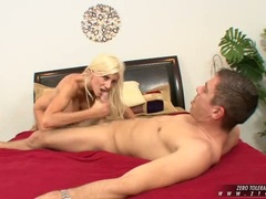 Filthy poen babe Puma Swede rocking a thick cock harder until it blows on her
