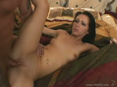 Sweetheart Jenna Presley gets an awesome explosion of cum in her lusty mouth