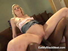 Bitchy shaved Aaliyah Jolie slams her pink snatch on a thick cock and loves it