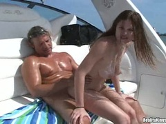 Alicia Alighati hammered up her juicy slot with cock and cum firerd off on face