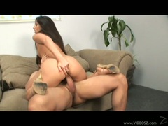 Horny latina Luscious Lopez fills her mouth with a massive cock and loves it