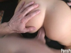 Sexy hot Tricia Oaks gets her tight pink ass creamed after a horny one on one