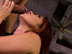 Rockin babe Tiffany Mynx awaits a hot load of cock sauce on her juicy mouth