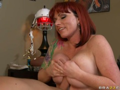 Sexy ass Kylie Ireland tit wanks and sucks a strapping hard cock