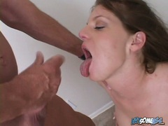 Gorgeous Kayla Cam deserves a hot load of cock batter after a nice blow