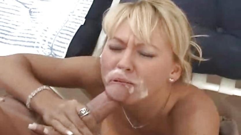 Sluty milf Chennin Blanc loving hot cum blasted all over face