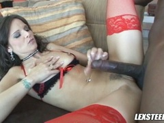 dark haired Syren Demer getting so screwed on her twat the way she always loved