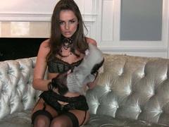 Slutty beautiful Tori Black prepares herself for a nasty solo pleasure
