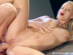Filthy Sandra Kay getting drilled deep on her twat from her sexy back