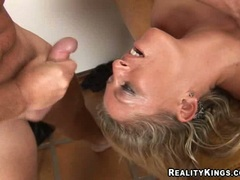 Saucey milf Chelsea Zinn loves cock pucking down throat and cuming on her face