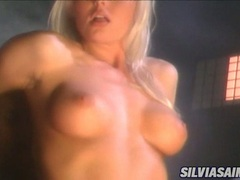 Sexy scorching Sylvia Saint slamming her pussy on a stiff cock until she cums