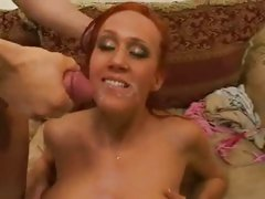 Dirty bitch Bailey Odare fucked rough and hard with big dick that cums in face