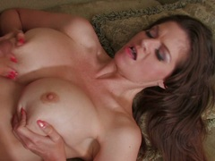 Filthy June Summers gets those firm hot jugs cummed after a rockin fuck