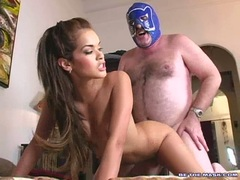 Porn babe Daisy Dukes deserves an awesome cumshot after a fuck well done