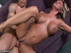 Seductive honey Kendall Brooks gets the right fuck on her twat and enjoys it