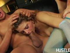 Bitchy babe Nikki Nievez gets her filthu mouth stuffed with a mighty cock indoor