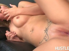 Filthy sexy Lacie Heart gets her silky smooth cracks creamed after a horny fuck