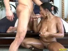 Filthy bitch Aryana Starr getting hug white pecker shoved down throat