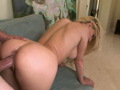 Sexy Kagney Karter sticks out her butt and gets her pussy plowed from behind